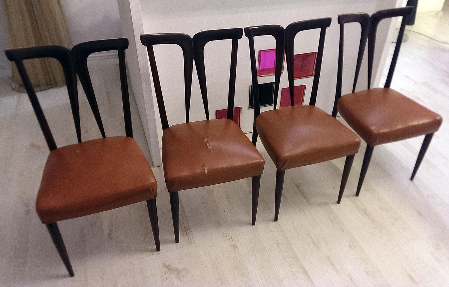 Italské židle - před očalouněním