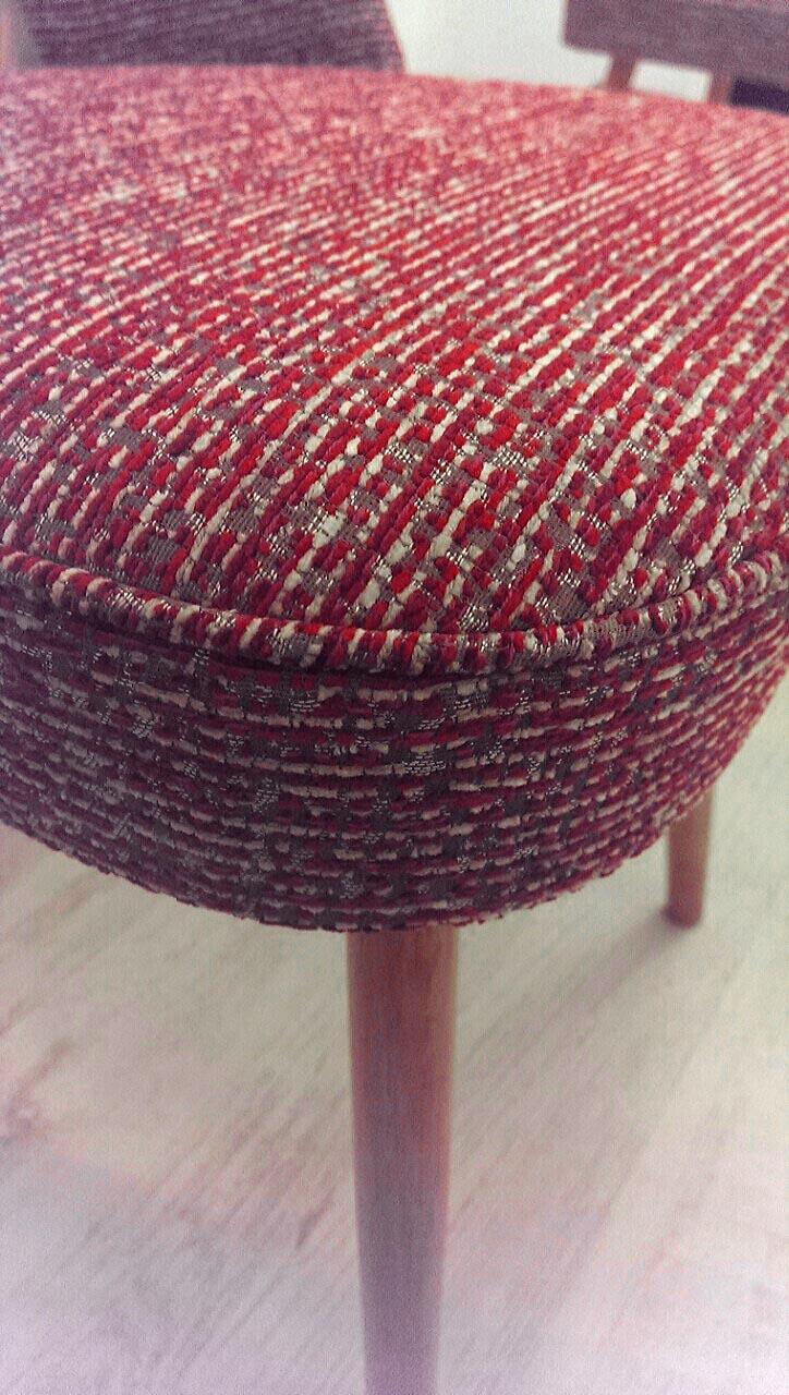Retro židle, 70.léta - nové čalounění. Látka Romo - kolekce Marlow