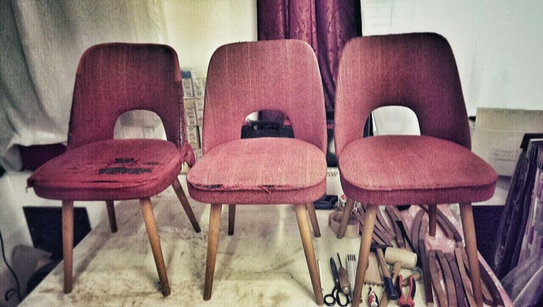 Retro židle, 70.léta - stav před očalouněním