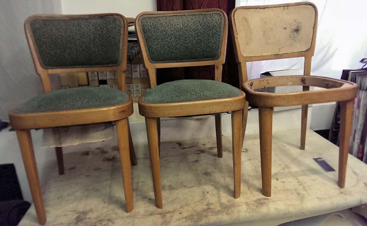 Židle Thonet - stav před renvovací