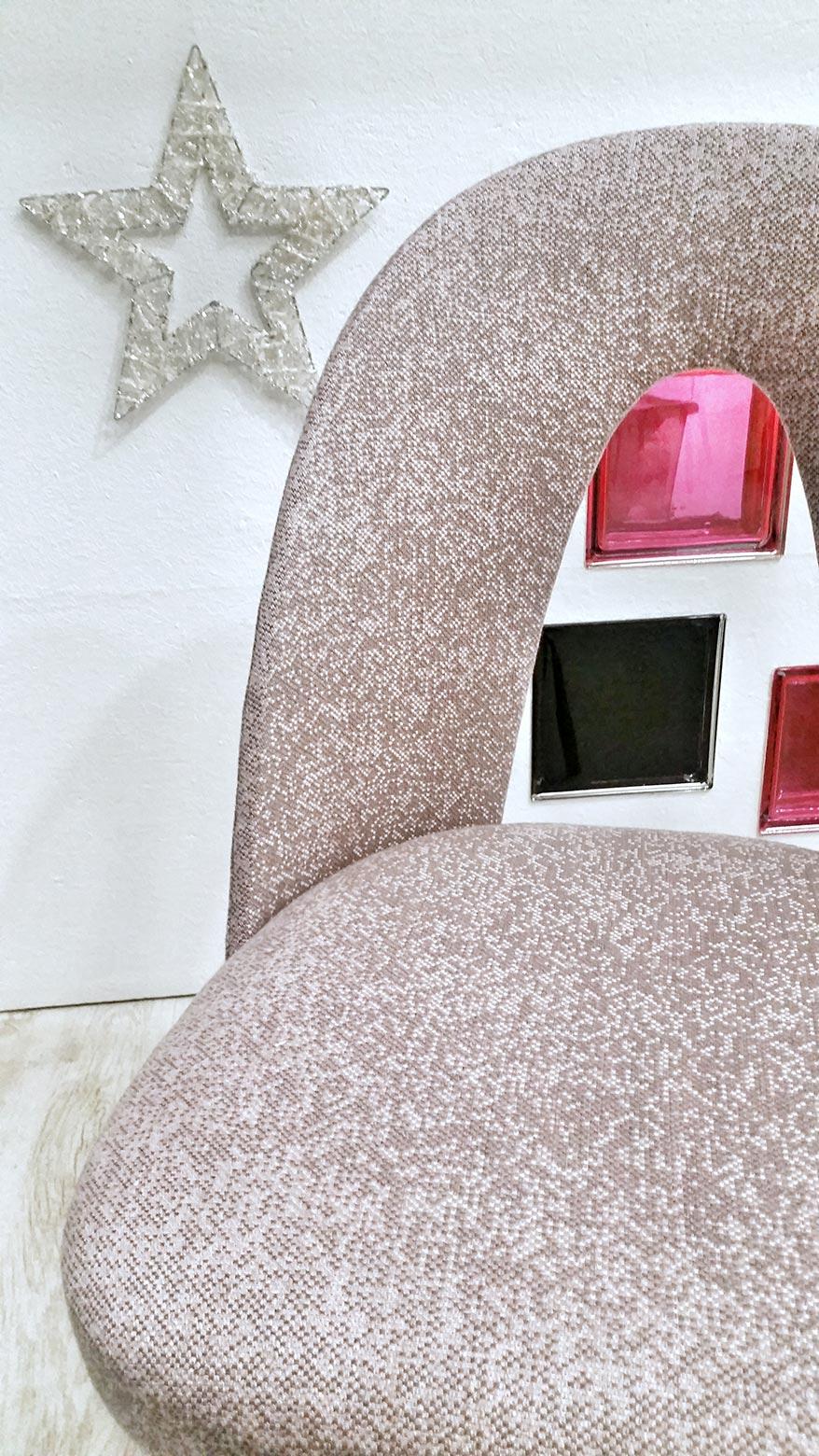 Retro židle Tatra v látce ROMO z kolekce BLACK EDITION
