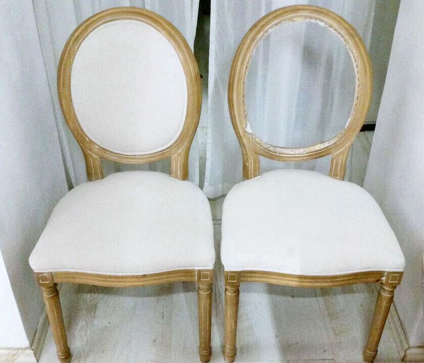 Židle - před očalouněním