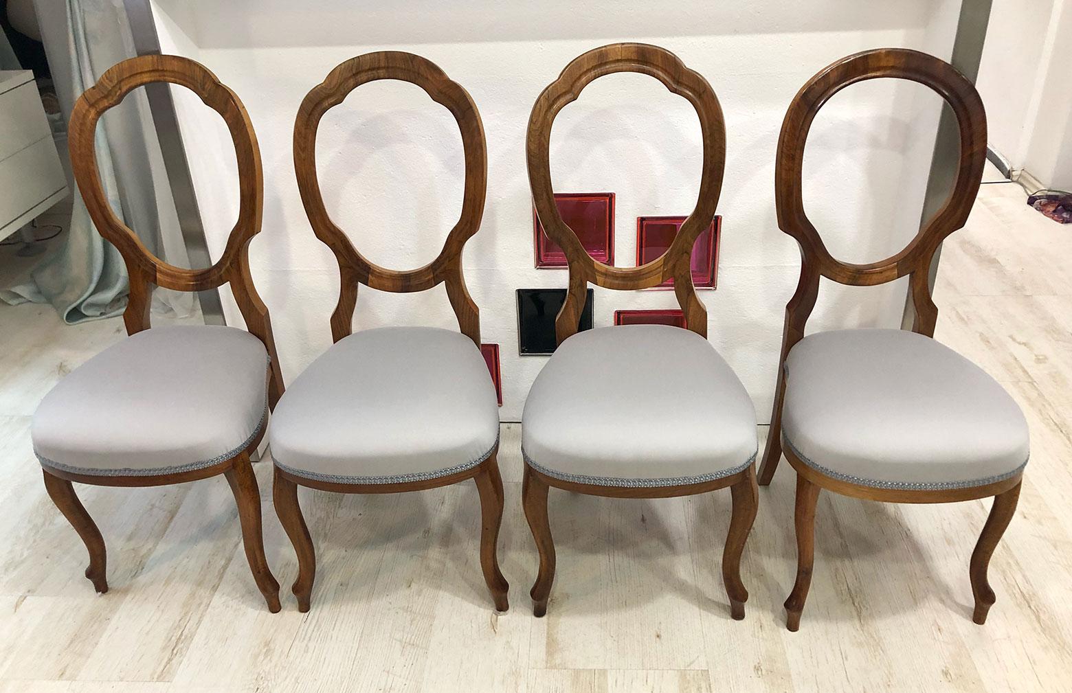 Starožitné židle v látce ROMO z kolekce ORNARE