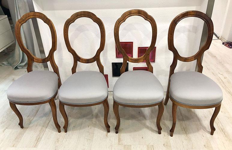 Starožitné židle v látce ROMO
